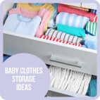 Baby clothes storage ideas